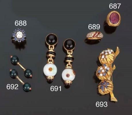 Anello in rubini e diamanti