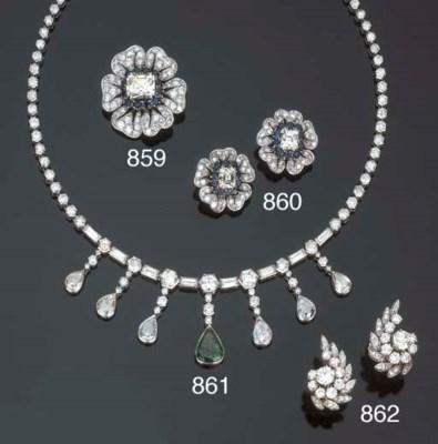 Spilla in diamanti e zaffiri