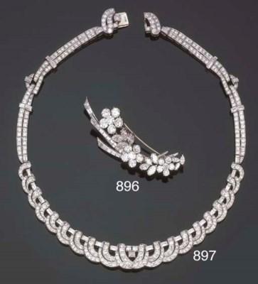 Collana in diamanti, firmata B