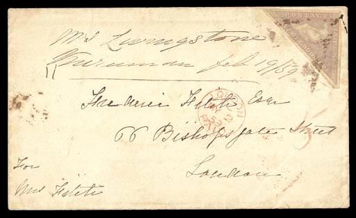 cover 1859 (19 Feb.) envelope