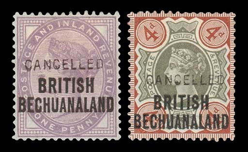 Cancelled  1d. and 4d., each h