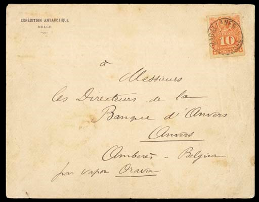 cover 1899 envelope to Antwerp
