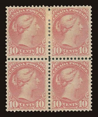 unused Block of Four  10c. sal