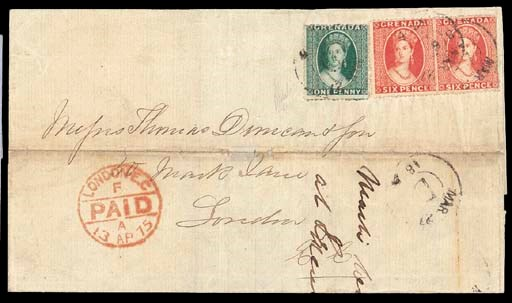 cover 1863-71 wmk. Small Star,
