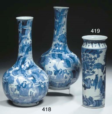 An Arita blue and white 'rolwa