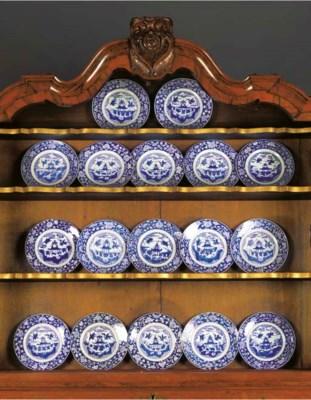 A set of seventeen Chinese blu