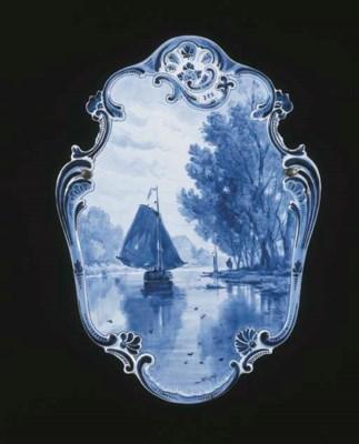 A Dutch Delft de Porceleyne Fl