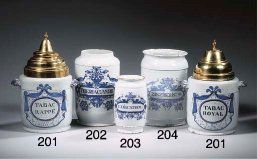 A Dutch Delft blue and white a