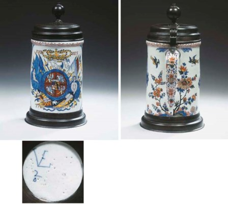 A Dutch Delft polychrome dated