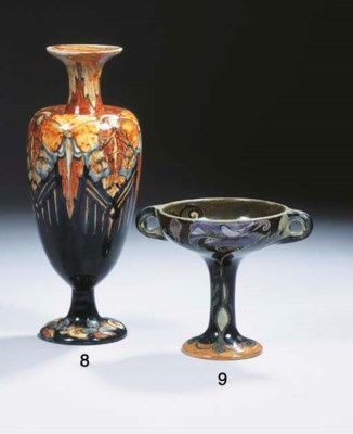 A glazed pottery footed bowl