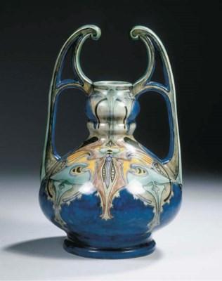 Model 1097, a glazed pottery v