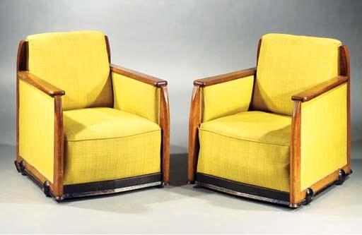 Two oak easy chairs