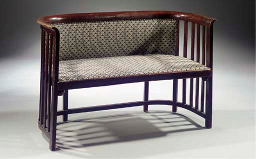 A bentwood settee