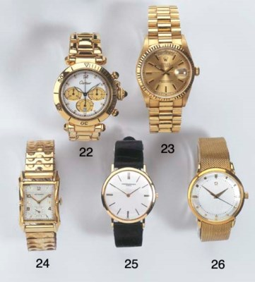 AN 18K GOLD AUTOMATIC WATER-RE