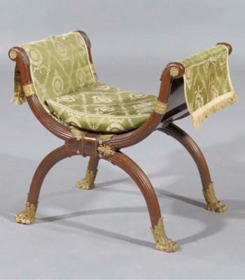 A mahogany and ormolu-mounted