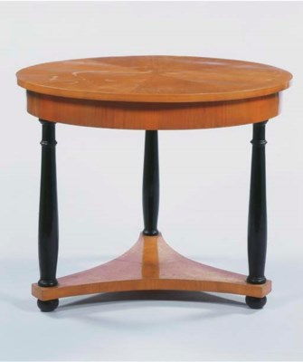 A German fruitwood and ebonize