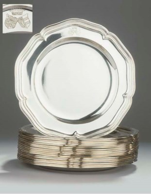 (18) Eighteen German silver de