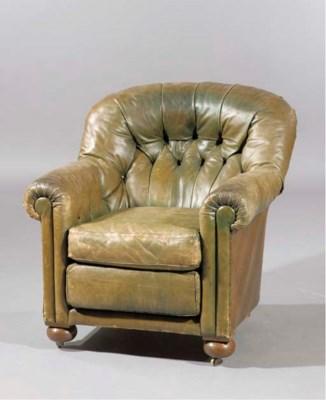 A Dutch oak club chair