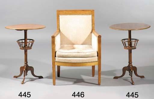 (2) A pair of English mahogany
