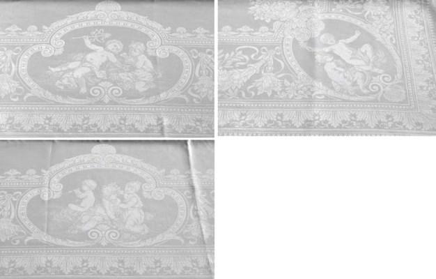 A fine damask linen tablecloth