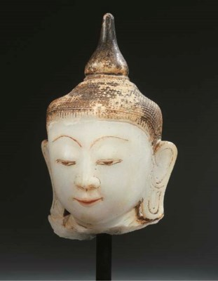 a burmese, shan style, alabast