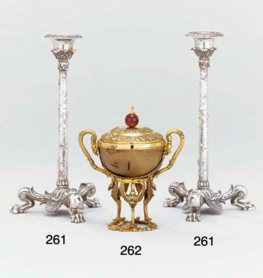 Two Victorian silver candlesti