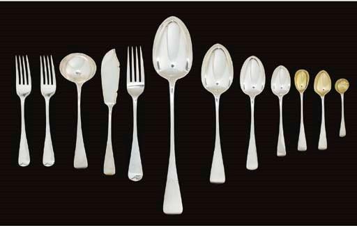 A Victorian silver dinner-serv