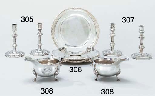 A set of six George III silver