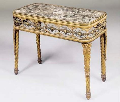 A GEORGE IV ORMOLU CENTRE TABL