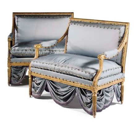 A PAIR OF LOUIS XVI GILTWOOD P
