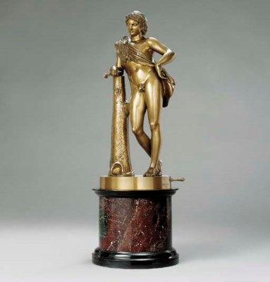 A BRONZE FIGURE OF THE YOUNG P