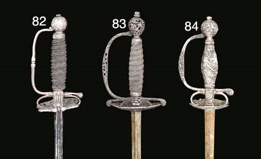 A GERMAN SILVER-HILTED SMALL-S
