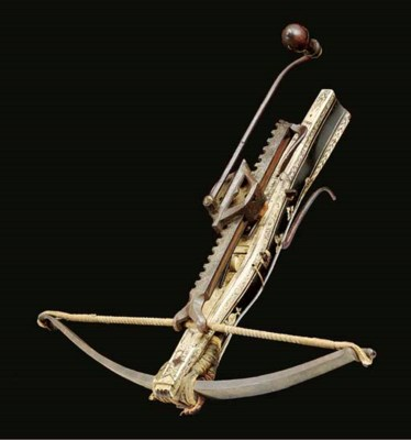 A GERMAN SPORTING CROSSBOW AND