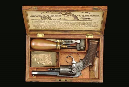 A VERY RARE CASED 80-BORE WEST