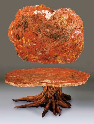 An unusual petrified giant red