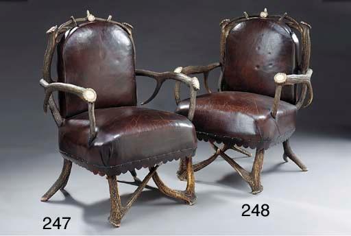 An antler horn armchair