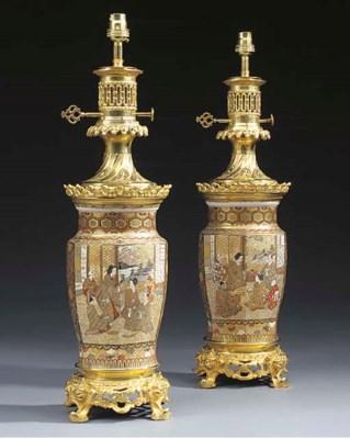 A pair of Japanese satsuma por
