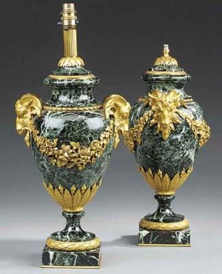 A pair of marmo verde antico a