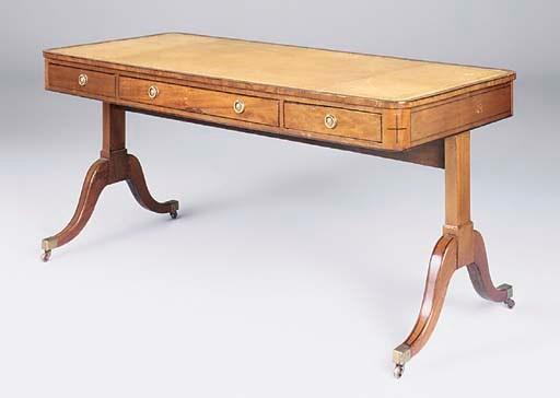 A Regency mahogany strung writ