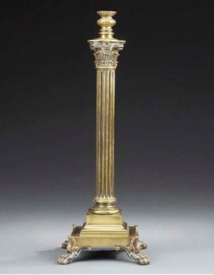 A Victorian gilt bronze telesc