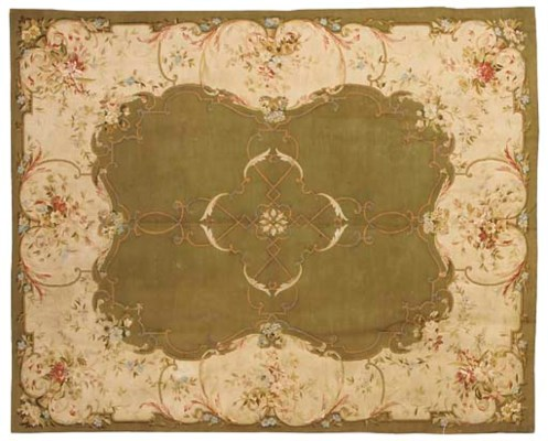 A finely woven Aubusson tapest