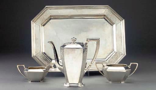 A Three-Piece American Silver