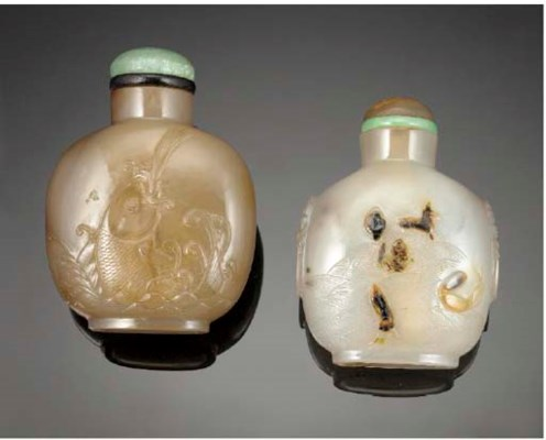 A CHINESE AGATE SNUFF BOTTLE 1