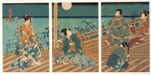 KUNIYOSHI, AN OBAN TRIPTYCH