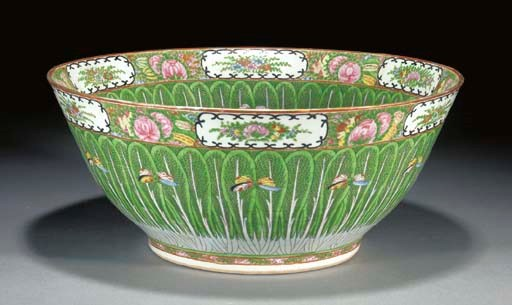 A CANTONESE PUNCH BOWL 20TH CE