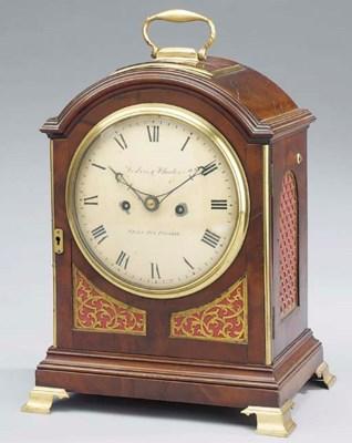 A Regency mahogany and brass-m