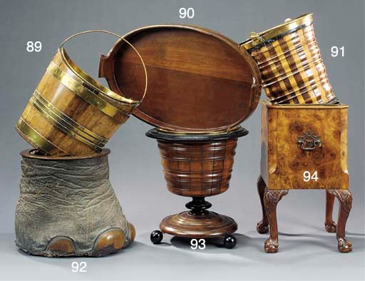 A Dutch brass banded fruitwood