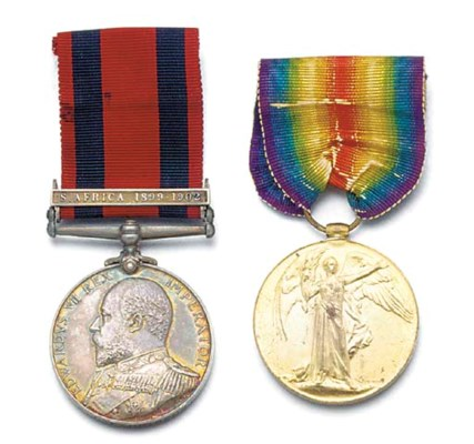 A Transport medal and Victory