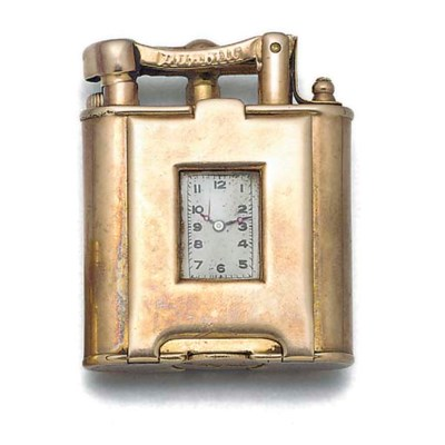 A 9ct. gold Dunhill petrol lig