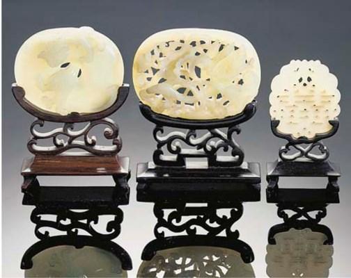 A celadon jade openwork plaque